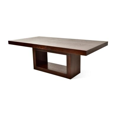 Antonio Deep Cherry Dining Table with 18 in. Take Off Leaf