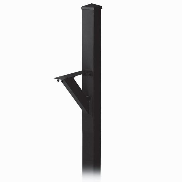 Modern In-Ground Mounted Decorative Mailbox Post in Black
