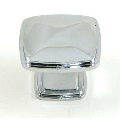 Providence 1-/14 in. Polished Chrome Square Cabinet Knob (10-Pack)
