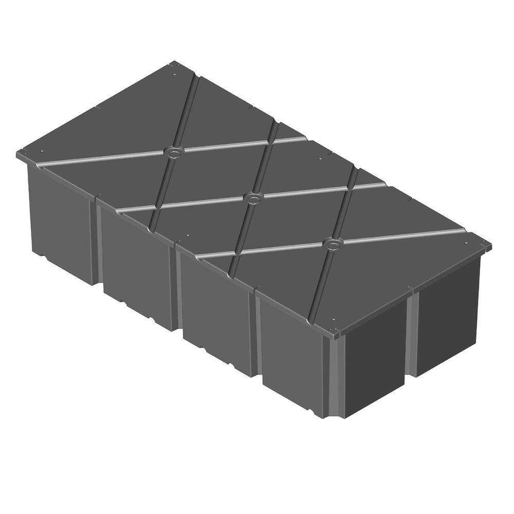 PermaFloat 48 in. x 96 in. x 24 in. Dock System Float Drum