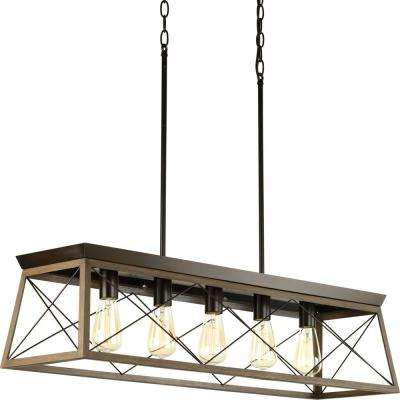 Briarwood 38 in. 5-Light Antique Bronze Chandelier