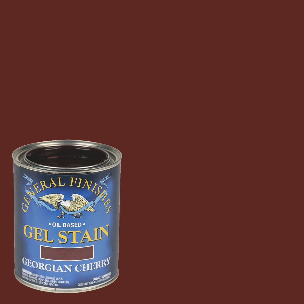 General Finishes 1 gal. Georgian Cherry Oil-Based Interior Wood Gel Stain