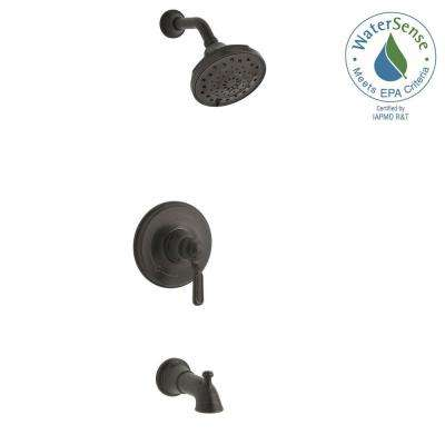 Worth 1-Handle 3-Spray Tub and Shower Faucet in Oil Rubbed Bronze