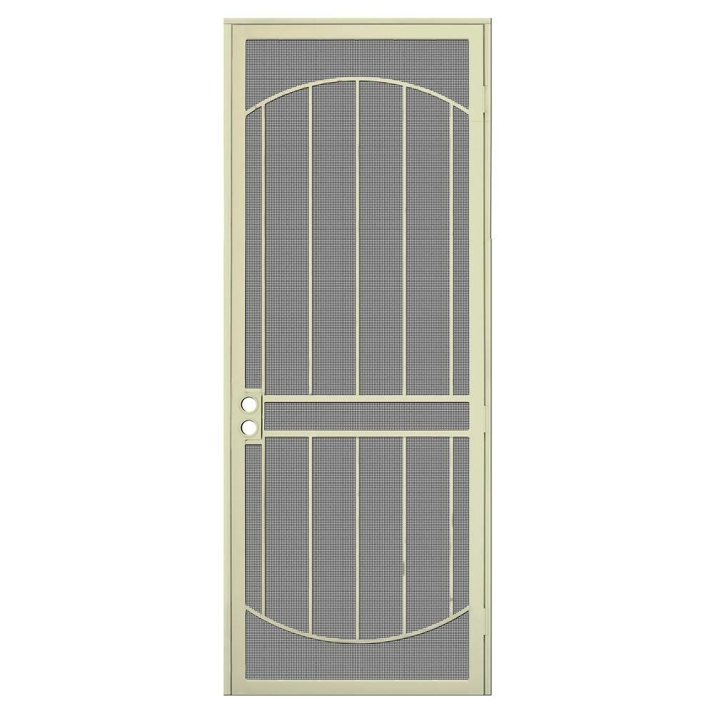 Unique home designs 36 in x 96 in arcada navajo white - Unique home designs security screen doors ...