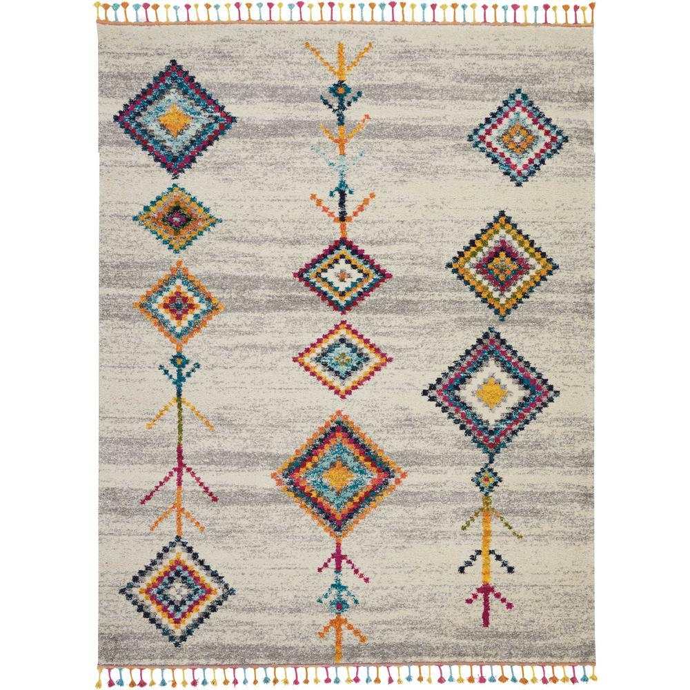 Nourison Moroccan Casbah 8' X 11' Grey Multicolor