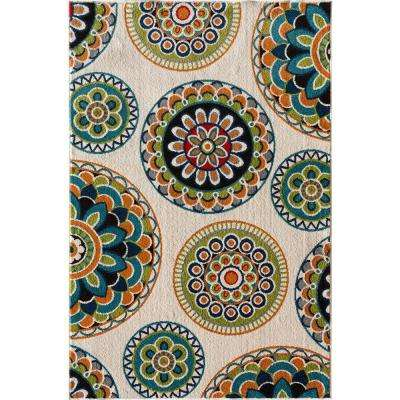 Superb Patio Brights Burnette Multi 5 Ft. X 7 Ft. 3 In. Indoor/