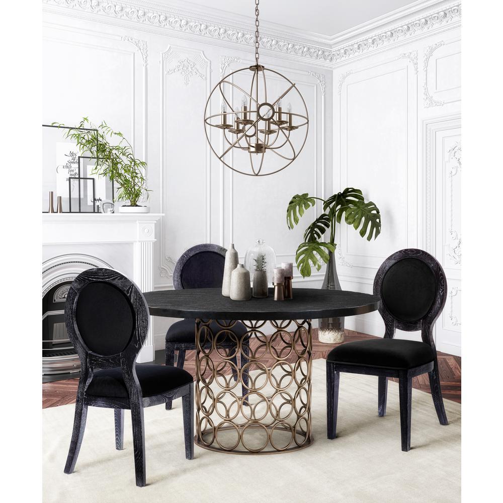 Black Cerused Oak Chair (Set of 2)