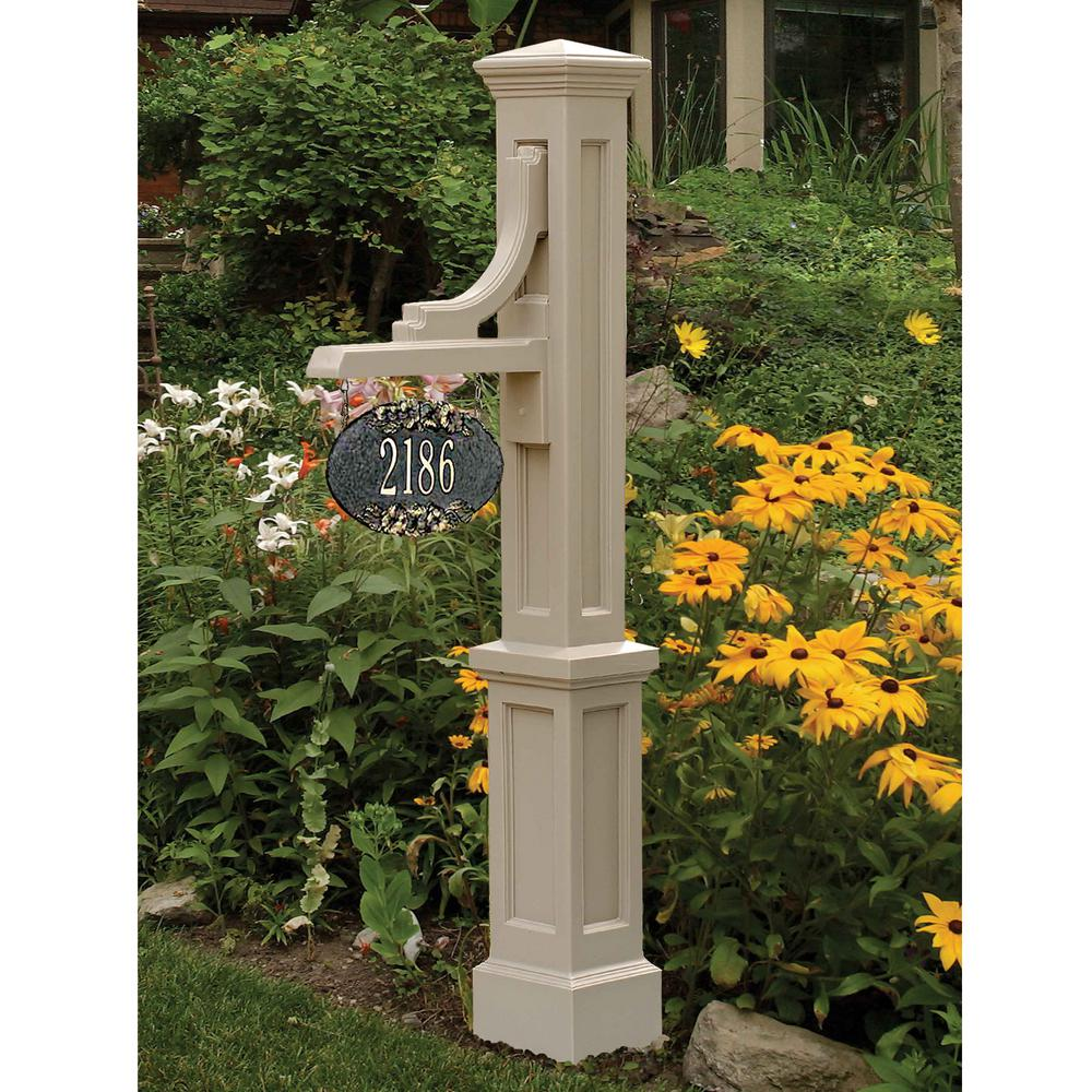 Mayne Woodhaven Address Sign Post in Clay