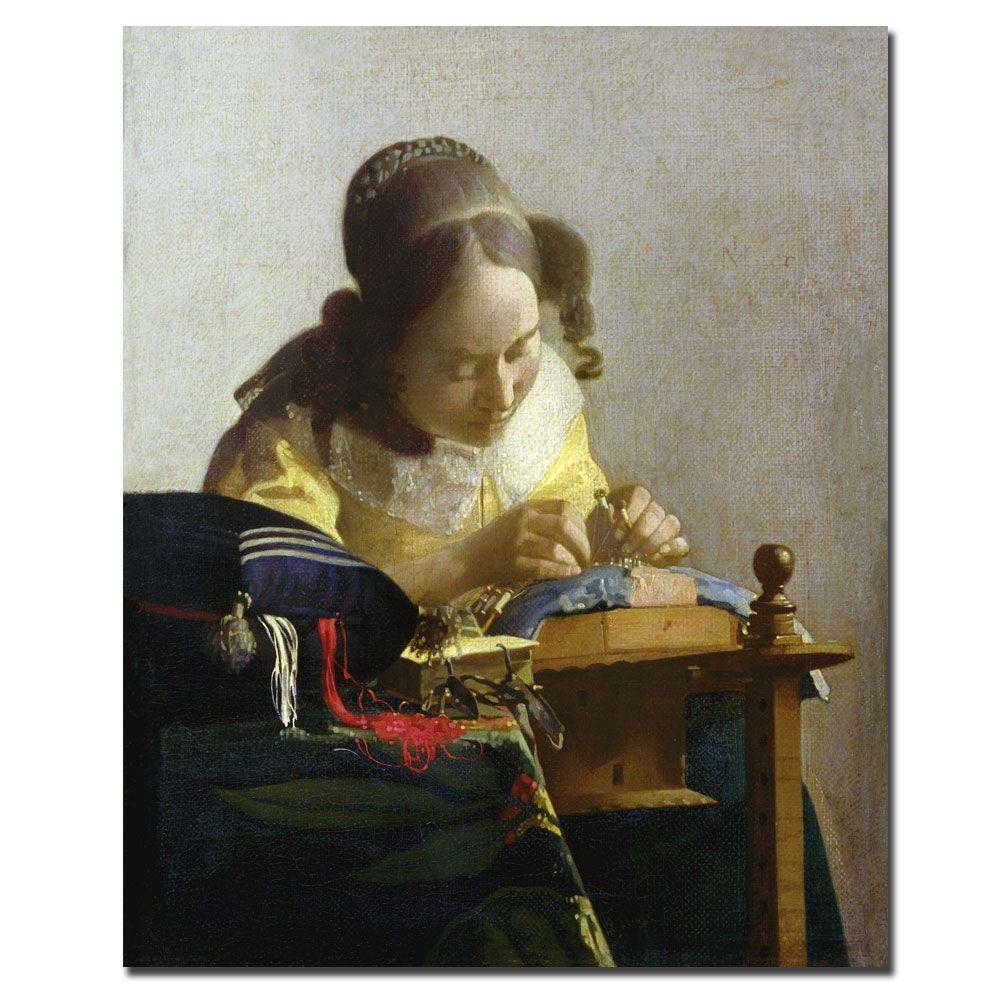 Trademark Fine Art 26 in. x 32 in. The Lacemaker Canvas Art