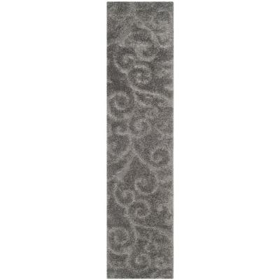 Florida Shag Gray 2 ft. x 7 ft. Runner Rug