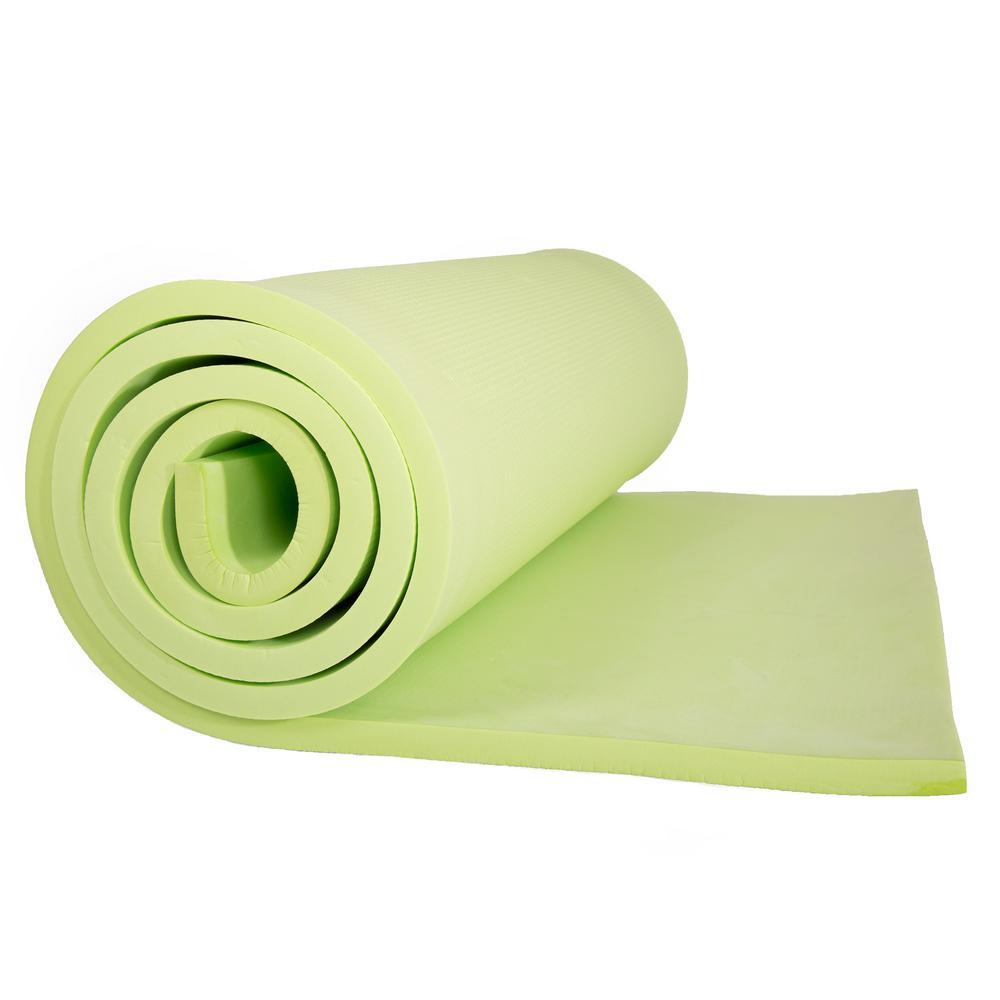 72 in. Super Light Luxury Foam Green Camping Sleep Mat