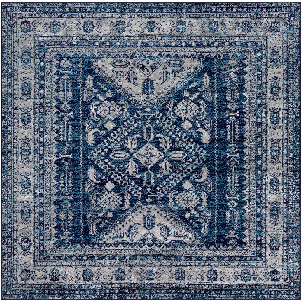 Artistic Weavers Havana Navy 5 ft. 3 in. Square Area Rug, Blue was $115.0 now $74.8 (35.0% off)