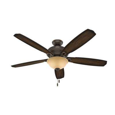 Ambrose 60 in. Indoor Onyx Bengal Bronze Ceiling Fan with Bowl Light