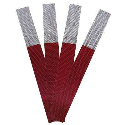 18 in. Conspicuity Strips in Red and White (32-Pack)