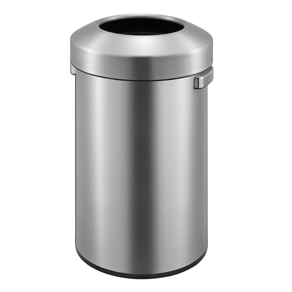 Urban Commercial Stainless Steel 90Liter/23.7 Gallon Round Open Top Trash Can