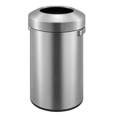Urban Commercial Stainless Steel 90 in. l Round Open Top Trash Can
