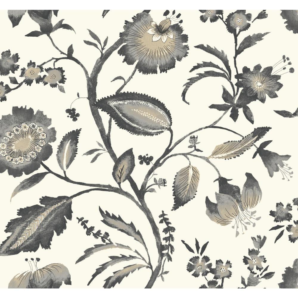 Tropics Watercolor Jacobean Wallpaper