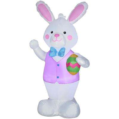 4 ft. Airblown Inflatable Bunny with Easter Egg