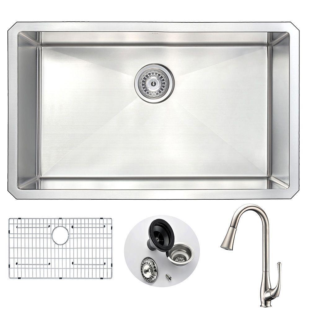anzzi vanguard undermount stainless steel 30 in single bowl kitchen rh homedepot com