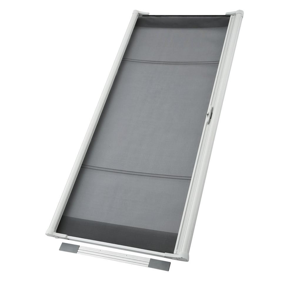ODL 36 in. x 80 in. Brisa White Standard Retractable Screen Door