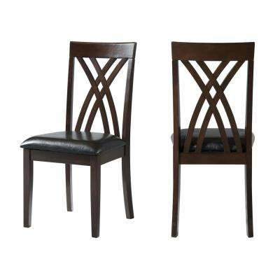 Bastion Dark Cherry Side Chair Set