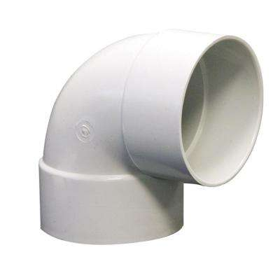 4 in. Styrene 90-Degree Hub x Hub Elbow