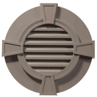 30 in. Round Gable Vent with Keystones in Clay