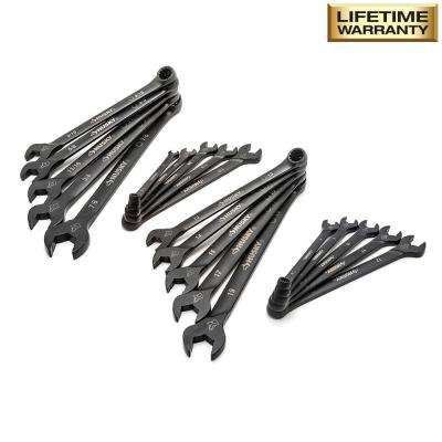 Long-Pattern Universal Combination Wrench Set SAE/MM (20-Piece)