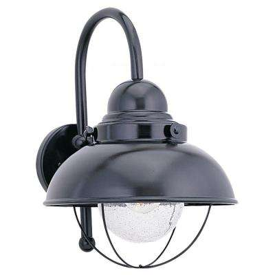 Sebring 1-Light Black Outdoor Wall Fixture