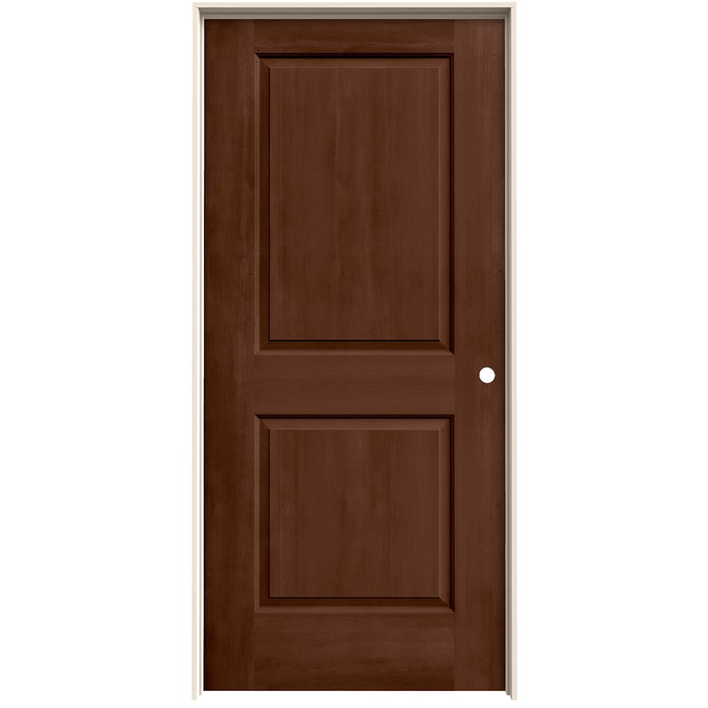 Jeld Wen 36 In X 80 In Cambridge Milk Chocolate Stain Left Hand Solid Core Molded Composite