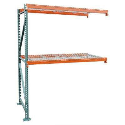 42 in. D x 108 in. W x 120 in. H Steel Heavy Duty 2-tier with Wire Decking Pallet Rack Add-On Unit
