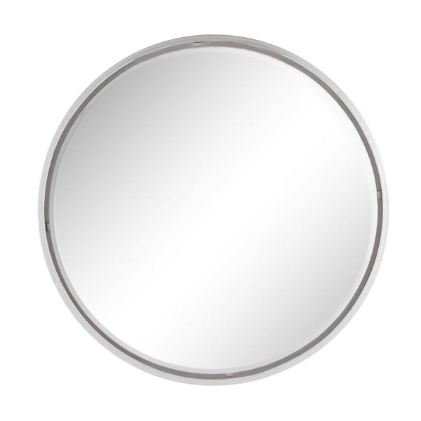 Extra Large Round Silver Wall Mirror, 30''