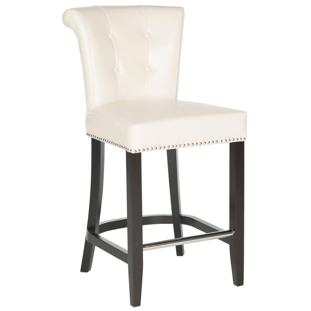 Fantastic Safavieh Addo 25 7 In Flat Cream Cushioned Bar Stool Creativecarmelina Interior Chair Design Creativecarmelinacom