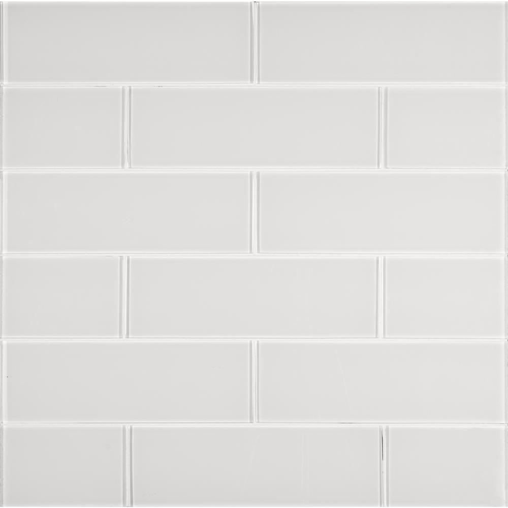 X 12 In Ice Glossy Gl Wall Tile