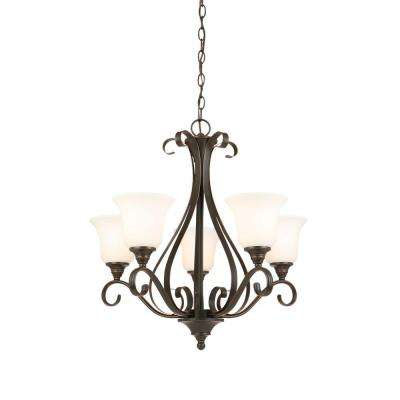 5-Light Oil-Rubbed Bronze Chandelier