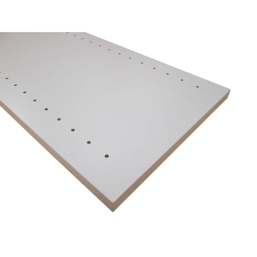 null 3/4 in. x 12 in. x 48 in. Folkstone Grey Thermally-Fused Melamine Adjustable Side Panel