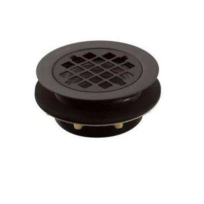 2 in. Brass Round Shower Drain in Oil-Rubbed Bronze