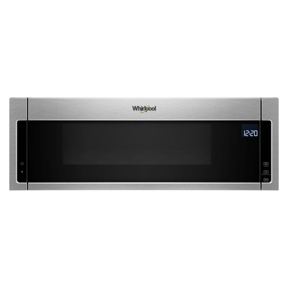 Whirlpool 1.1 cu. ft. Over the Range Low Profile Microwave Hood Combination in Fingerprint Resistant Stainless Steel