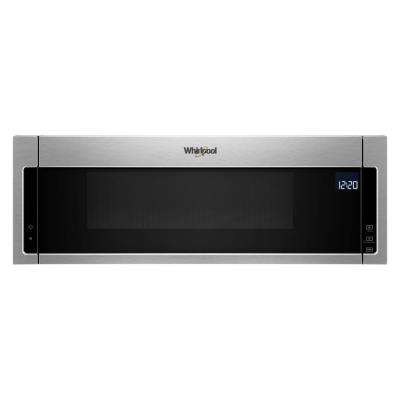 Over The Range Low Profile Microwave Hood Combination In Fingerprint Resistant