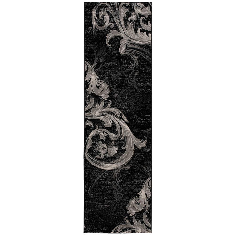 Nourison Soho Black/Grey 2 ft. x 8 ft. Runner Rug
