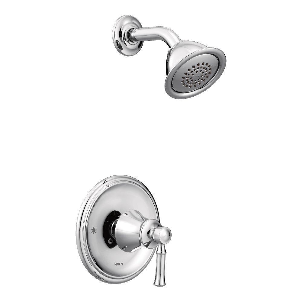 MOEN Dartmoor Posi-Temp 1-Handle Wall-Mount Shower Only Faucet Trim ...