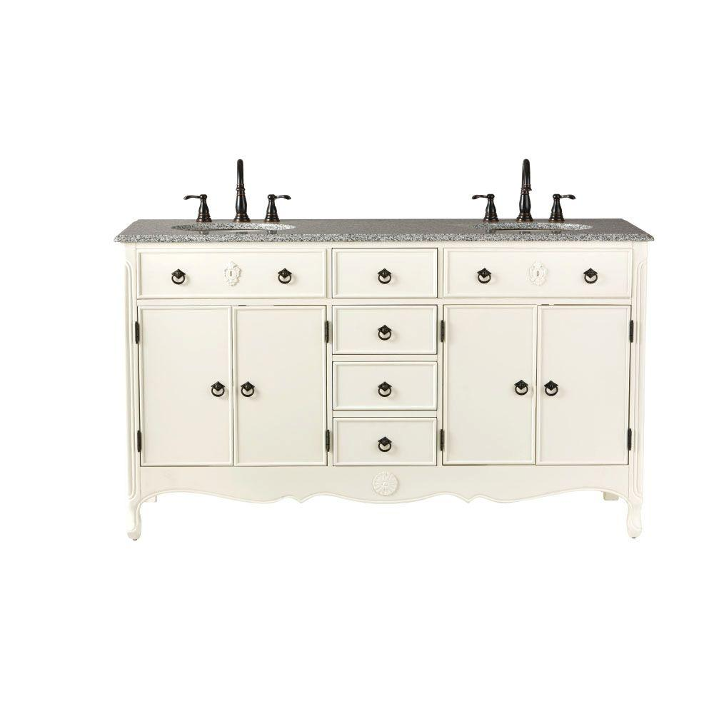 Home Decorators Collection Keys 61 In W Vanity In Ivory