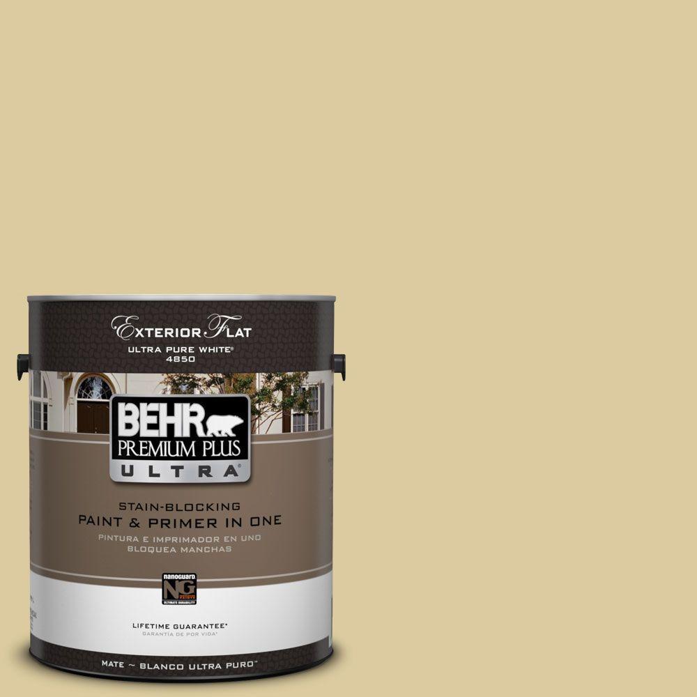 BEHR Premium Plus Ultra 1-Gal. #UL180-10 Mojito Flat Exterior Paint