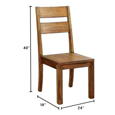 Dark Oak Dining Chairs Kitchen Dining Room Furniture The Home Depot