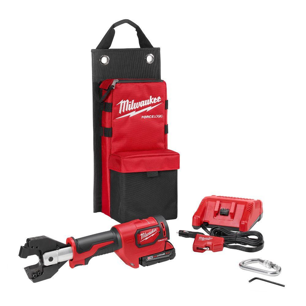 Milwaukee M18 18-Volt Lithium-Ion Cordless Cable Cutter With Steel Jaws  with(