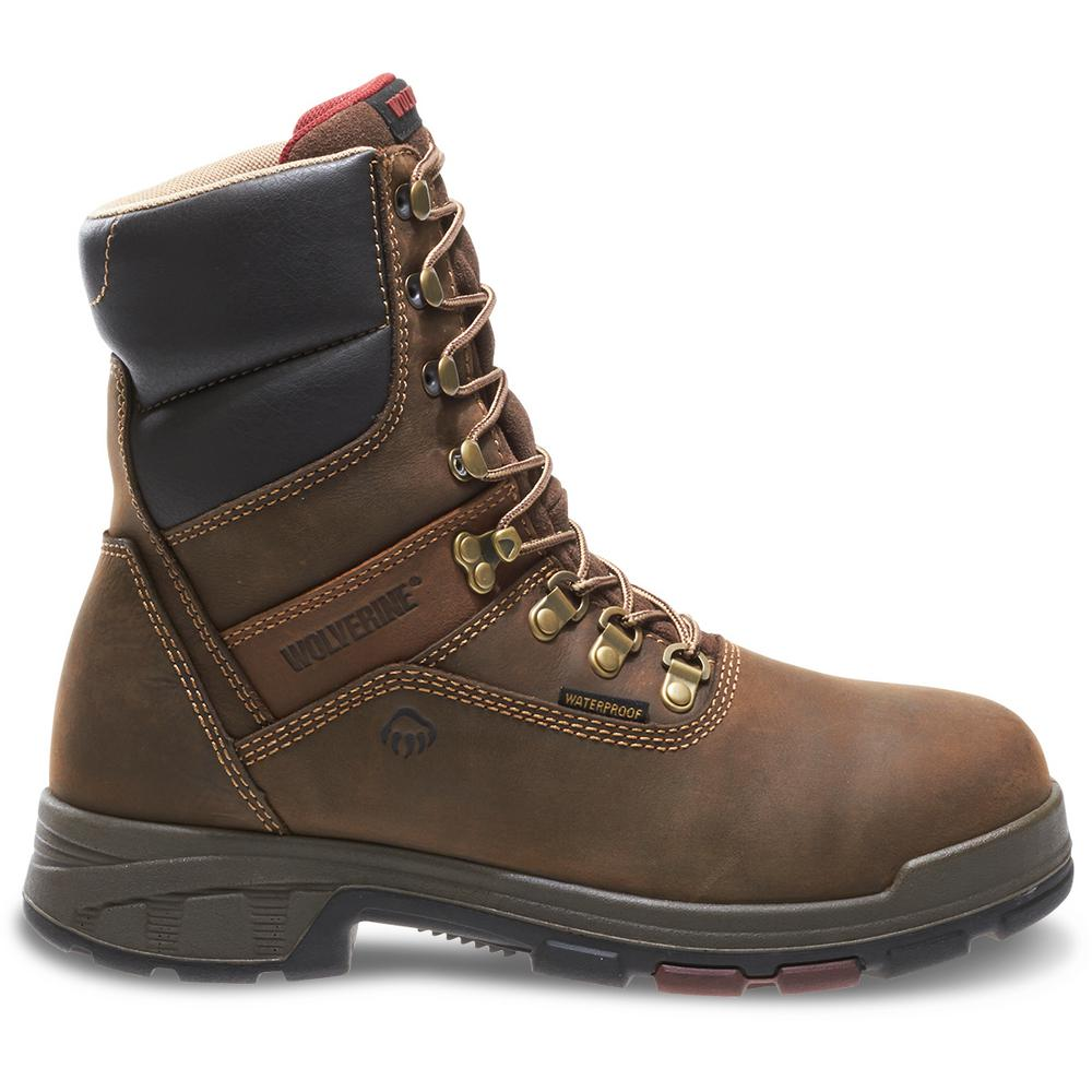 4d3e6f902a3 Wolverine Men's Cabor Size 11M Dark Brown Nubuck Leather Waterproof 8 in.  Boot