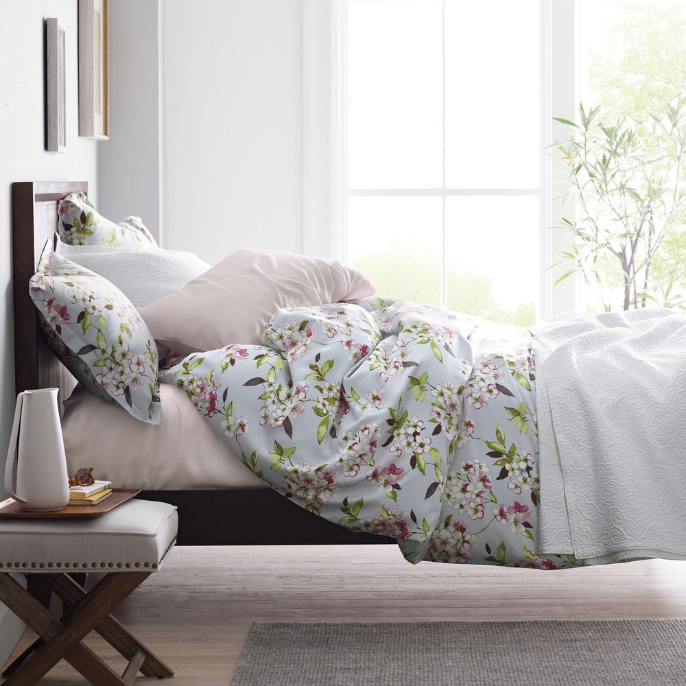 Marietta Floral 300-Thread Count Sateen Duvet Cover