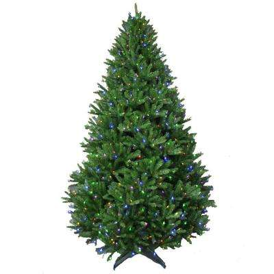 9 ft. Pre-Lit LED Natural California Cedar Artificial Christmas Tree with Color Changing Lights