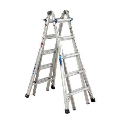 22 ft. Reach Aluminum Telescoping Multi-Position Ladder with 250 lb. Load Capacity Type I Duty Rating