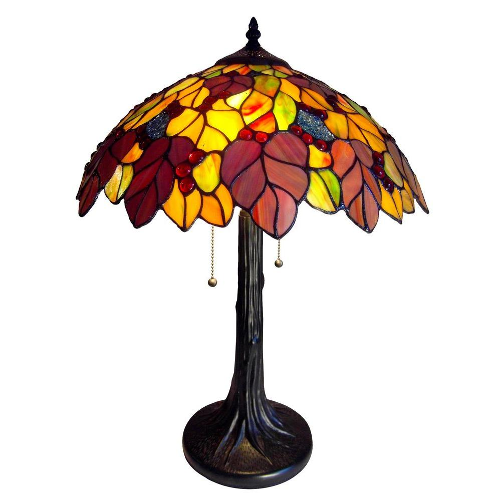 Chloe Lighting Wisteria 23 in. Tiffany Bronze Table Lamp-DISCONTINUED